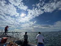 博多湾でタチウオジギング