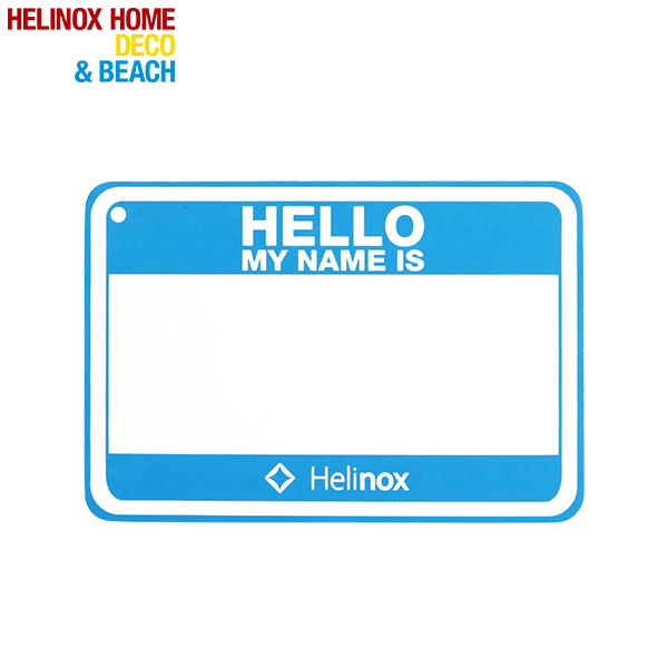 Helinox Hello my name is パッチ